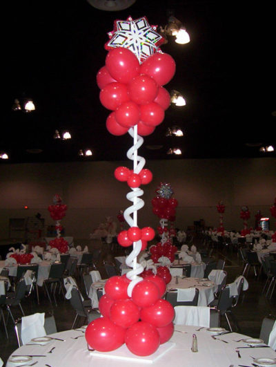 Red Centerpiece Column